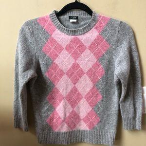 JCrew Women's argyle sweater